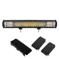 20Inch Tri-Reihe LED-Bar-Licht 288W 28000lm bewegliche Halterung wasserdicht IP68 High Power High Lumen 7D duale Farben für Off-Road 4x4-Lkw 12V