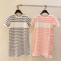 2021 Summer Casual Dresses Sweater Long Skirt Short Sleeve Knitting Clothes Casaul Tshirt Dress Loose Fit Design