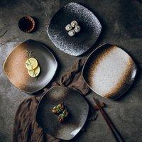 Плоский черный современный творческий ужин тарелка стейк керамическая тарелка набор блюдо для блюда подача блюдо лоток Платон керамика ужин BJ50CP