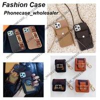 Mode-Designer-Telefon-Fälle für iPhone 12 11 PRO MAX 11P XR XSMAX 7 8 Plus mit Mustern Leder-Leder-Kartentasche Geldbörsenfall