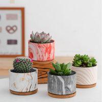 Topçaklar Tencere Mermer Desen Seramik Saksı Ekici Nordic Tarzı Yeşil Bitki Succulents Masası Ofis Bahçe Dekorasyon Süsleme