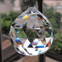 Chandelier Crystal 5Pcs 40mm Faceted Glass Parts Pendant Prisms Lighting Ball Clear Suncatcher Wedding Home Decoration
