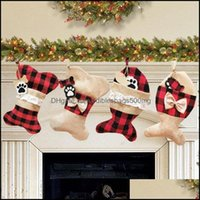 Festive Supplies Home & Garden4 Styles Trees Ornament Party Decorations Pet Pendant Santa Christmas Stocking Candy Socks Bags Owb1425 Drop D