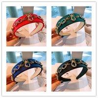 UPS Shipping Boho Kristall Haarband für Frauen Mädchen Hochzeit breit Headwear Barockrhinestone Haarnetze Stirnband Valentinstag Geschenke D