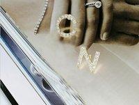 진주 재고 뜨거운 디자이너 전체 라인 석 / 전체 편지 트레블 귀걸이 여성 패션 비대칭 스터드 귀걸이 쥬얼리 선물