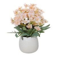 Decorative Flowers & Wreaths Artificial Begonia Hydrangea Ceramic Bonsai Simulation Plant Home Garden Office Living Room Dining Table Decora