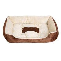 Kennels & Pens 2021 Autumn Winter Pets Dog Bed Warming Plush House High Elastic PP Cotton Pet Nest Warm For Cat Puppy Supplies