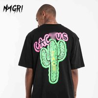 NAGRI fashion Travis Scott tour short sleeve CACTUS net Kanye West men's and women's loose T-shirt