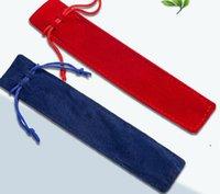 펜 가방 크리 에이 티브 디자인 봉제 벨벳 파우치 홀더 밧줄 사무실 학교 쓰기 공급 학생 선물 DWA4144