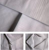 2021 24pcs / lote 100% algodón satinado Pañuelo de color blanco Mesa de color Handkerchief Súper suave bolsillo de bolsillo cuadrados 34 cm