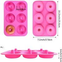6 캐비티 비 스틱 도넛 형 몰드 머핀 케이크 실리콘 도넛 Bakeware 베이킹 금형 금형 팬 DIY 젤리 캔디 3D 금형 BWE10468