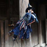 Хэллоуин призрак ведьма кукла ужас страшный висит украшения призрак летающий ведьма кулон Хэллоуин DIY партия орнаменты Y201006