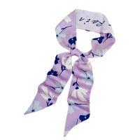Bufandas pequeña tira seda bufanda pelo banda para mujer corbata corbata bisel cinta esbelta francés retro cabeza cuerda
