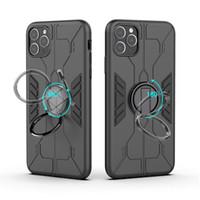 Portabagno Magnetico Anello Militare Antiurto Antiurto PC + Custodia TPU per iPhone 12 11 Pro Max Samsung Galaxy Nota 10 A50 Xiaomi