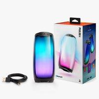 العلامة التجارية نبض 4 المحمولة مصغرة بلوتوث المتكلم ماء الإضاءة الملونة سماعات لاسلكية صوت ستيريو مع جودة جيدة حزمة صغيرة