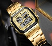 2021 S8011 New Arrival Fashion Square steel band men's watch business electronic digital wristwatch