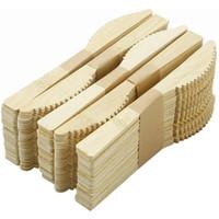 Conjunto de utensílios de mesa de bambu 17cm Proteção ambiental descartável faca de bambu / garfo / colher Delegada Dinnerware ZC089