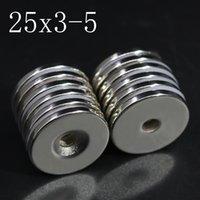 Buzdolabı Magnets 2 / 5/10/20 adet 25x3-5 Neodimyum Mıknatıs 25mm x 3mm Delik 5mm NdFeB N35 Yuvarlak Süper Güçlü Güçlü Kalıcı Manyetik Imanes Disk