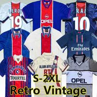 Paris Saint Germain Camiseta de Fútbol Okocha Leroy Beckham Soccer Jersey 1990 92 94 95 96 98 99 2000 01 Psg Retro clásico Vintage 20/21 Versión de jugador Camisetas de fútbol