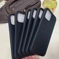 Koolstofvezel Zachte TPU Telefoon Gevallen voor iPhone 13 12 Pro Max Mini 11 XR XS X 8 SAMSUNG S21 S20 Ultra Note 20 A02S A52 A72 A32 A42 5G A12 M31S A21S Verticale Siliconen Mobiele Cover