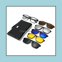 Outdoor Eyewear Protective Gear Cycling Sports & Outdoors 5 In 1 On Polarized Glasses Clip Magnetic Driving Sunglasses Night Vision Lentes D