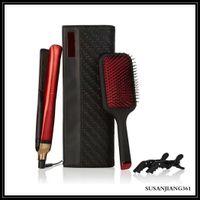 epack البلاتين + فرشاة الشعر فرشاة الشعر مجموعات المهنية مصمم مستقيم مستقيم الشعر التصميم أداة اللون الأحمر نوعية جيدة