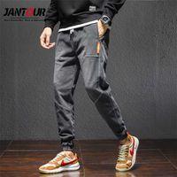 Jantour марки осень зима мужские джинсы гарема джинсовые высокое качество грузовые брюки Jogger Goth Hip Hop брюки мужские серые плюс Size4xl 211012