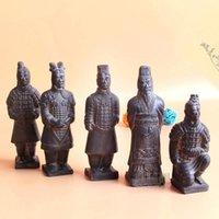 Oggetti decorativi Figurine Cina Antique Terracotta Esercito Soldato Scultura Qin Dinastia Guerrieri Modello Handmade Artigianato Regalo