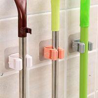 NOUVEAU MOP Titulaires de Titulaires de salle de bains Toilette gratuite Toilette Strong Mural Clip Hook Crochet Porte-cartes Porte-Porte-cartes EWB7701