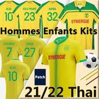 21/22 Nantes FC 8EME Etoile Футбол трикотаж 2000-01 Чемпионы 2021 2022 Mailoots de Foot Blas Bamba Simon Coulibaly Kolo Muani Girotto Men + Kids Kit Футбольная рубашка