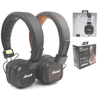 Marshall Headset com fio Headphones Headphones Mic Bass Hifi DJ Headphone
