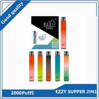 Nouveau Dispositif de bosses jetables à 2 pouces d'Ezzy 1000 + 1000puff 900mAh Batterie 6.5ml Pods Vaporiseurs vaporisateurs VS XXL Puff bar max