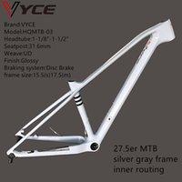 Vyce HQMTB-03 الفضة رمادي إطار كامل الكربون mtb دراجة 27.5er ud لامعة الدراجة الجبلية إطارات