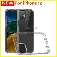 TPU Case Phone, para iPhone 12 Pro Max 12 Pro 12 Mini 1.5mm Clear Acrílico Transparente + TPU Phone Case à prova de choque Telefone móvel de volta