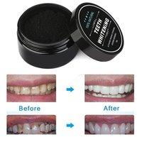 Coquilles de noix de coco-carbon actif blanchiment de dents de charbon de charbon naturel organique Lavez vos dents Blanc