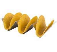 Cappello da portata in acciaio inox 4pcs acciaio inossidabile Portabicchiere Taco Shell Holder Stand Commercio all'ingrosso