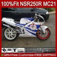 OEM-Injektion für Honda MC21 PGM3 NSR250RR NSR250 NSR 250 R 103HC.87 Blau Glossy NSR 250R 90 91 92 93 NSR250R 1990 1991 1992 1993 Verkleidung