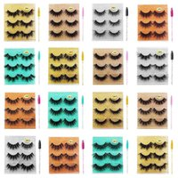 3 Pairs box 3D Mink Eyelashes Fluffy Thick Wispy Natural False Eyelash With Glitter Packing Cruelty Free Multilayer Eye Lashes Extension
