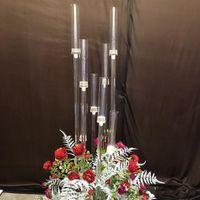 꽃병 8 헤드 캔들 홀더 배경 아크릴 높이 Candelabra 촛대 홀더 웨딩 테이블 센터 피스 꽃 스탠드 candelabrum