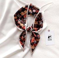 7 couleurs écharpes printemps été automne mode fleur imprimer écharpe de soie pour femme fille 9.5 * 100cm