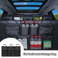Car Organizer Auto Multi Hanging Net Pocket Trunk Bag Rear Seat Back Storage Large Capacity Stowing Tidying Accessories