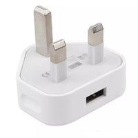 5V 1A wall charger adapters UK plug home travel 3 pin leg USB Power adapter charging for Smartphone Tablet Pc Universal