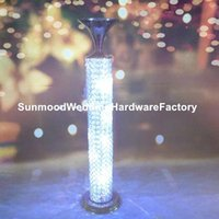 Party Decoration Style Crystal Table Top Flower Stand Centerpieces For Wedding