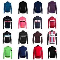Rapha Soudal Team Cycling Mangas largas Jersey Mens transpirable Cycle Wear Variedad de opciones Tops Ropa al aire libre 31658