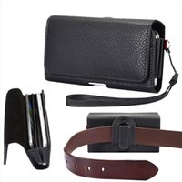 Dual Phone Pouch Pu Leather Waist Bags Case For Iphone Samsung Huawei Xiaomi Holster Belt Cover Universal 5.5 6.9 With