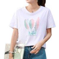 Women's T-Shirt Volocean 2021 Cotton Woman T Shirt Casual T-shirts For Women Female Summer Print Top Tee Short Sleeve Plus Size