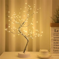 LED Tree Lamp USB Fire Tree Silver Flower Tree Light With Touch Switch For Home Indoor Wedding Party Bar Christmas Decoration