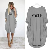 Dresses Women Short Plus Summer Size Sleeve Casual Crew Neck Letter Pattern Womens Clothing Fashion Loose Ladies Apparel Dresses 0N7G