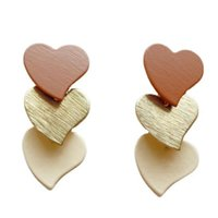 Stud Retro Long Multi-Layered Heart Earrings Geometric Tassel Temperament Women's Anniversary Jewelry Accessories