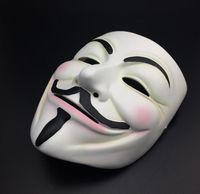화이트 v 마스크 가장 무도회 마스크 아이 라이너 할로윈 전체 얼굴 마스크 파티 소품 Vendetta 익명 영화 남자 zzc6218